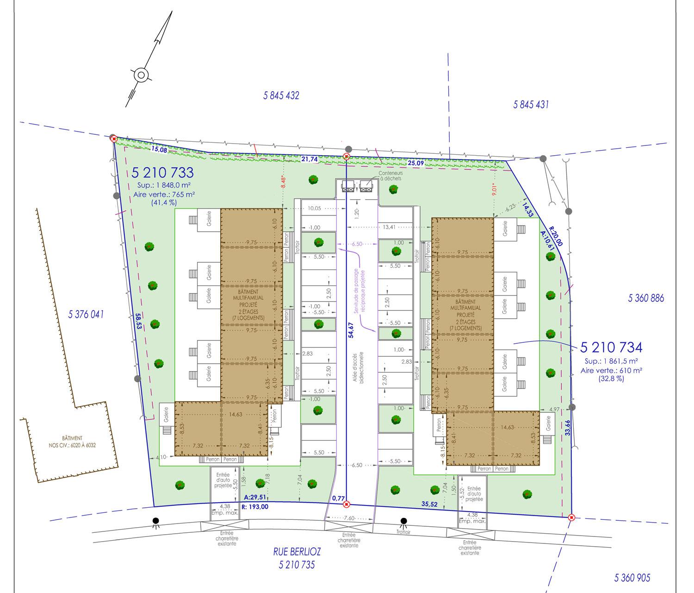 Plan de lotissement rue Berlioz