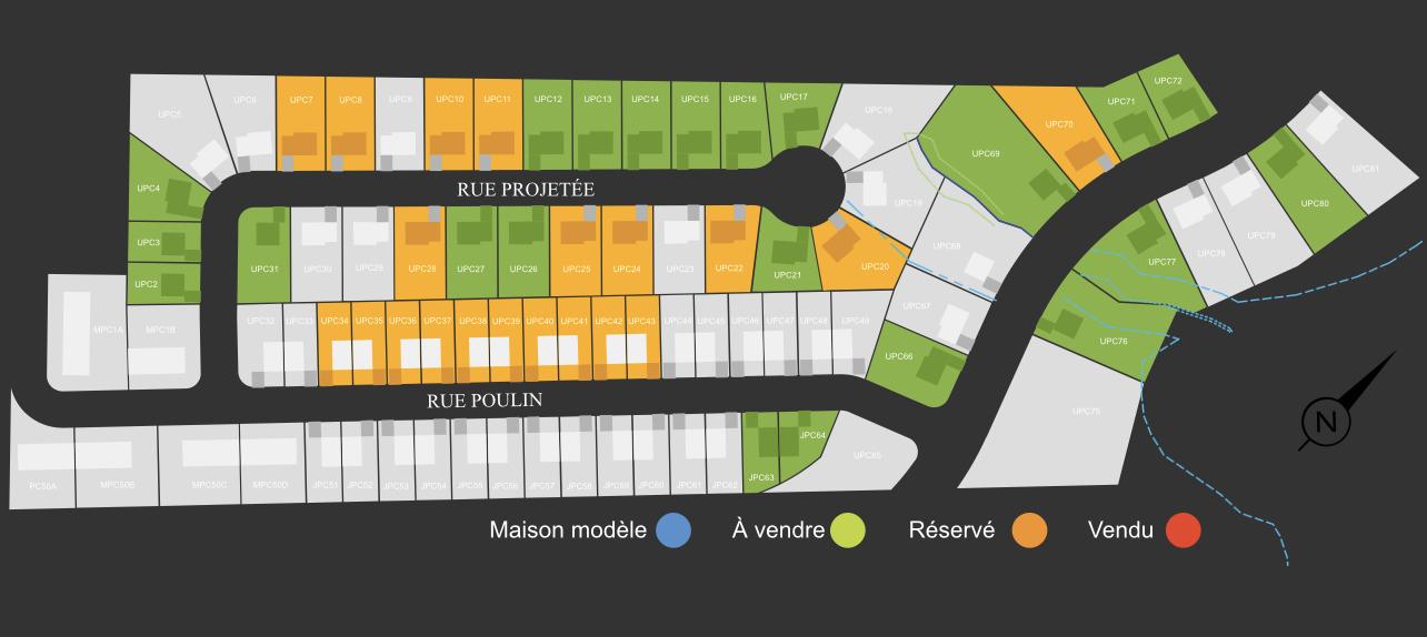 plan de lotissement rue des Marguerites