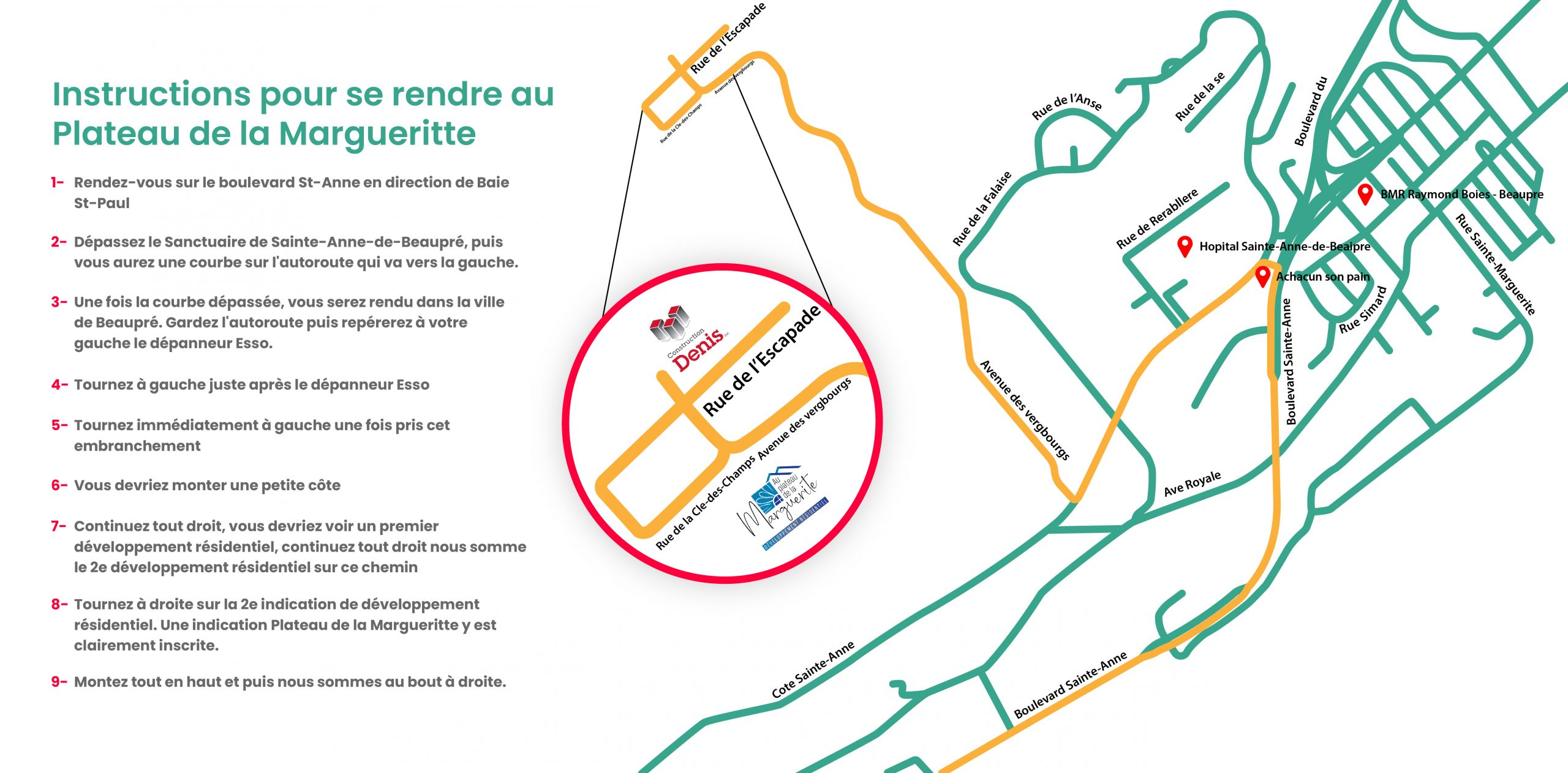 Plan Plateau de la Marguerite